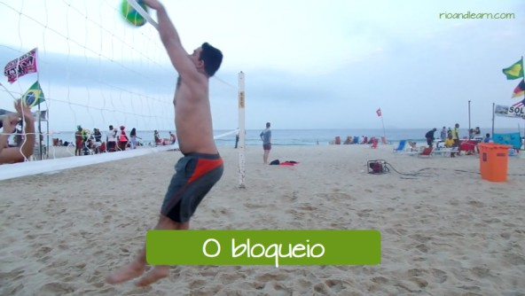 Examples of defense in the beach volley. The block: O bloqueio.