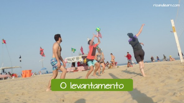 Beach volleybal moves in Portuguese. The overhead pass: O levantamento.