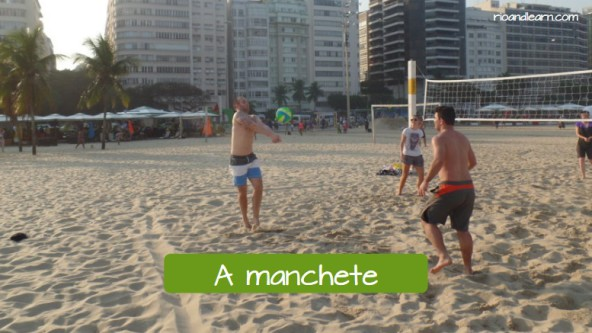 Basic beach volleyball moves. The bump: A manchete.