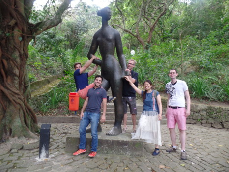 Students at parque da catacumba