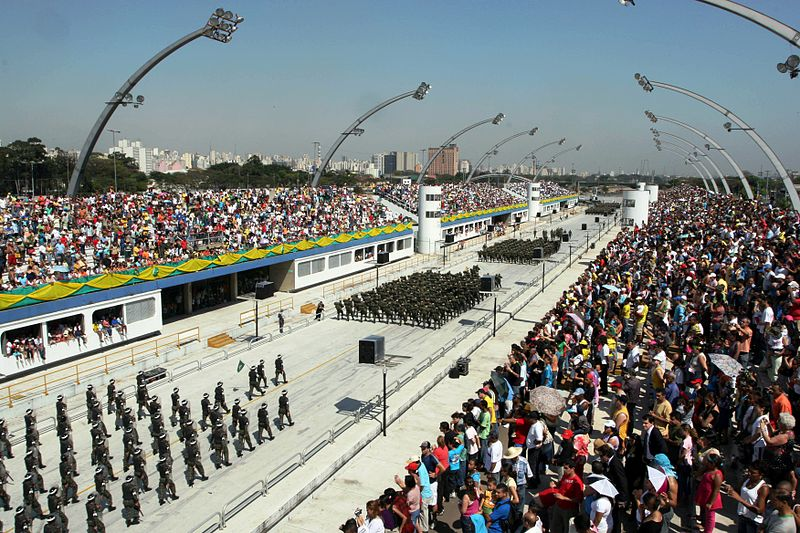 Military Parade Independence Day in Brazil