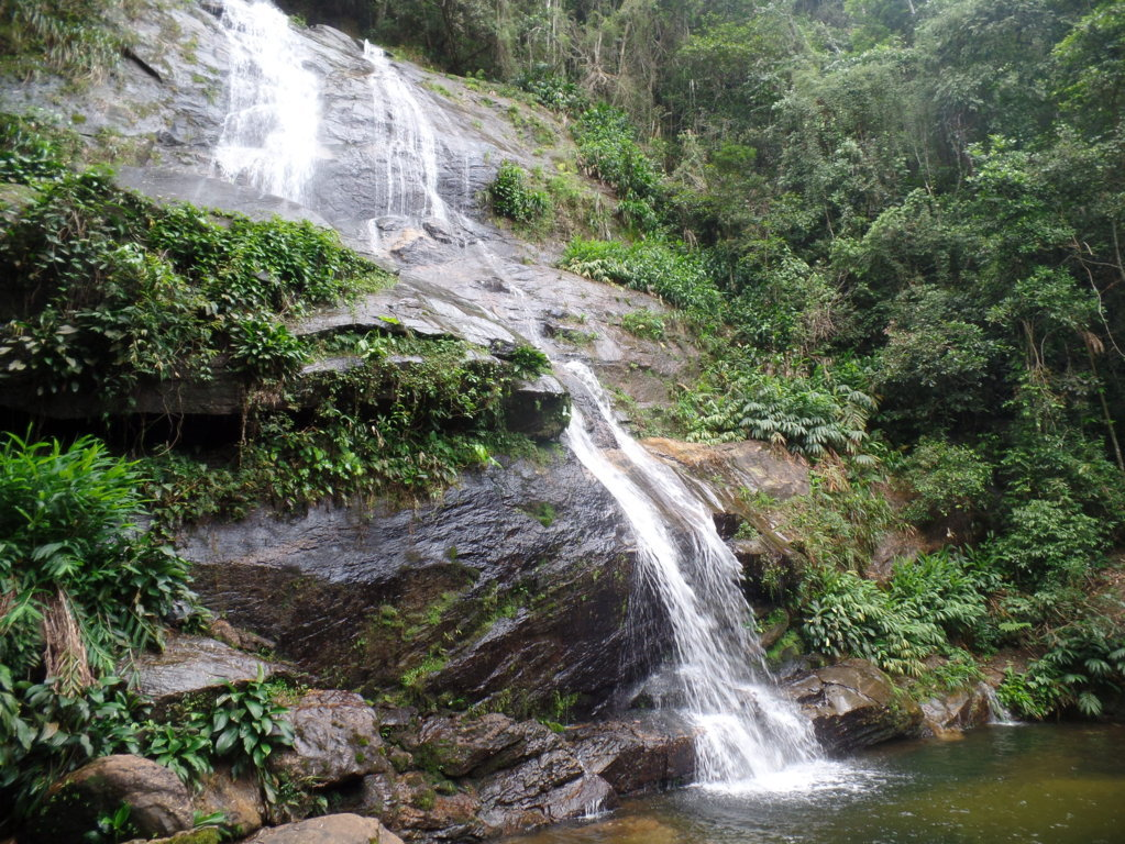 Taunay Cascade. The highest and most known cascade there.
