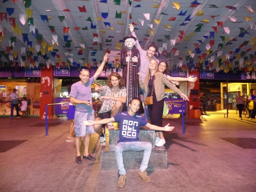 Fun at São Cristóvão. Our Portuguese students having fun at Feira de São Cristóvão.