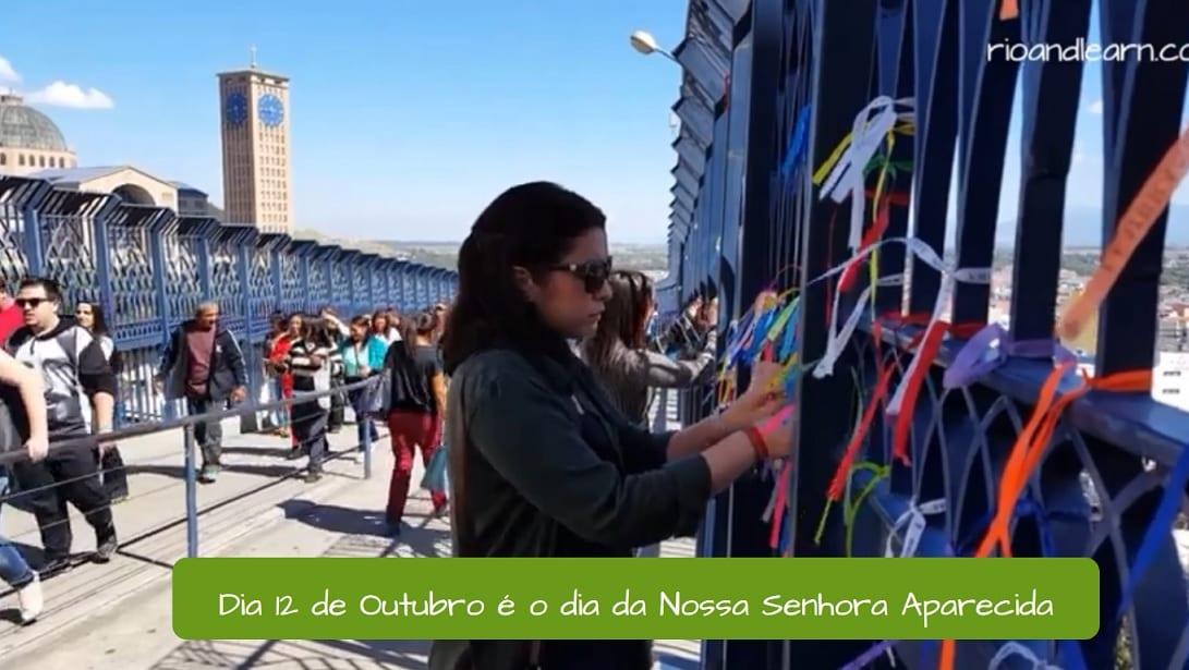 Celebrando Nuestra Señora Aparecida en Brasil.