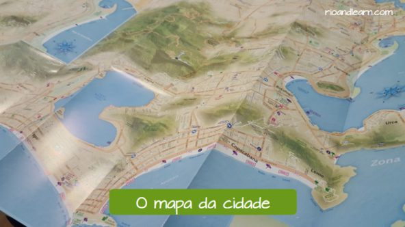Examples of travel vocabulary in Portuguese for foreigners. The city map in Portuguese: O mapa da cidade.