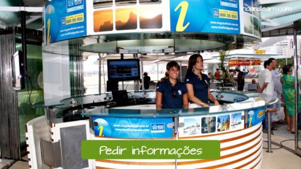 Pedir información turística: Pedir informações.