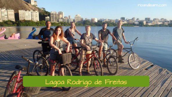 La Lagoa Rodrigo de Freitas está en la Zona Sur de Río de Janeiro.