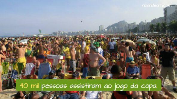 Ejemplo con números grandes en portugués: 40 mil pessoas assistiram ao jogo da copa.