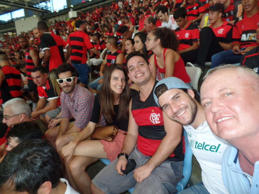 Selfie at Maracanã with Flamengo's Victory.