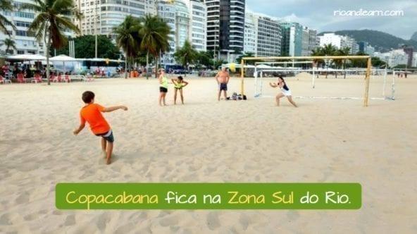Copacabana está en la zona sur de Río de Janeiro