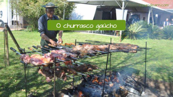 Un churrasco gaúcho de Brasil