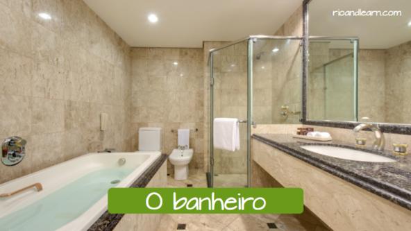 El baño en portugués: O banheiro.