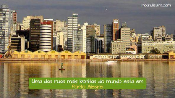 Cidades mais importantes do Brasil. Uma das ruas mais bonitas do mundo está em Porto Alegre.