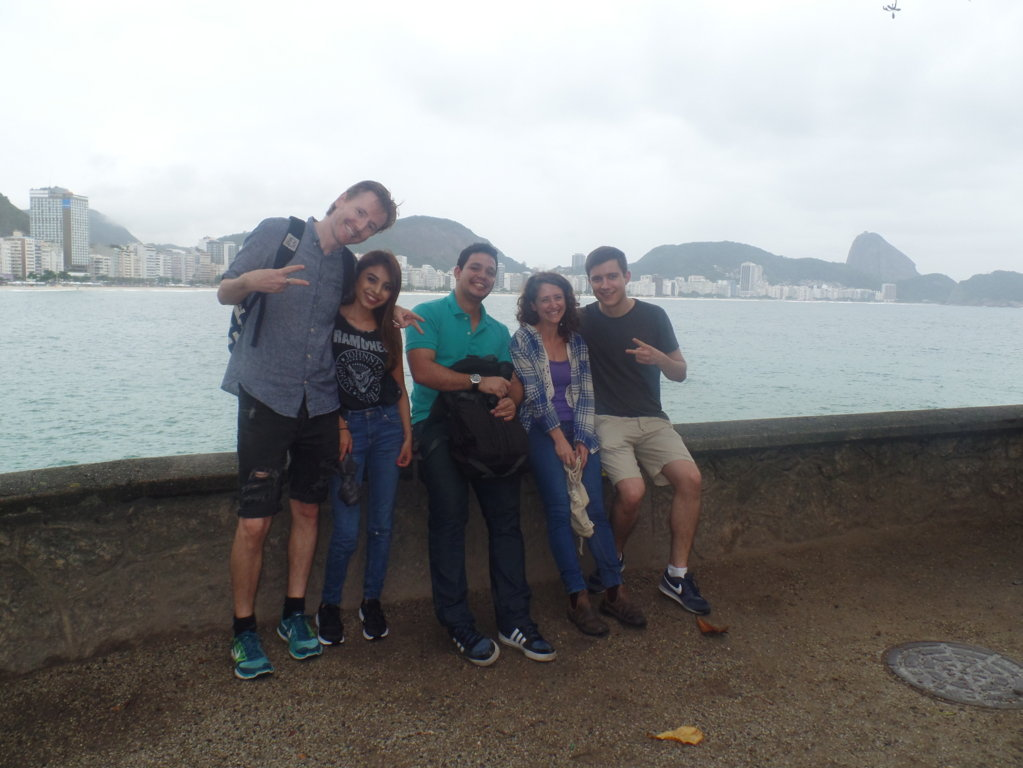 Taking a walk at Forte de Copacabana.