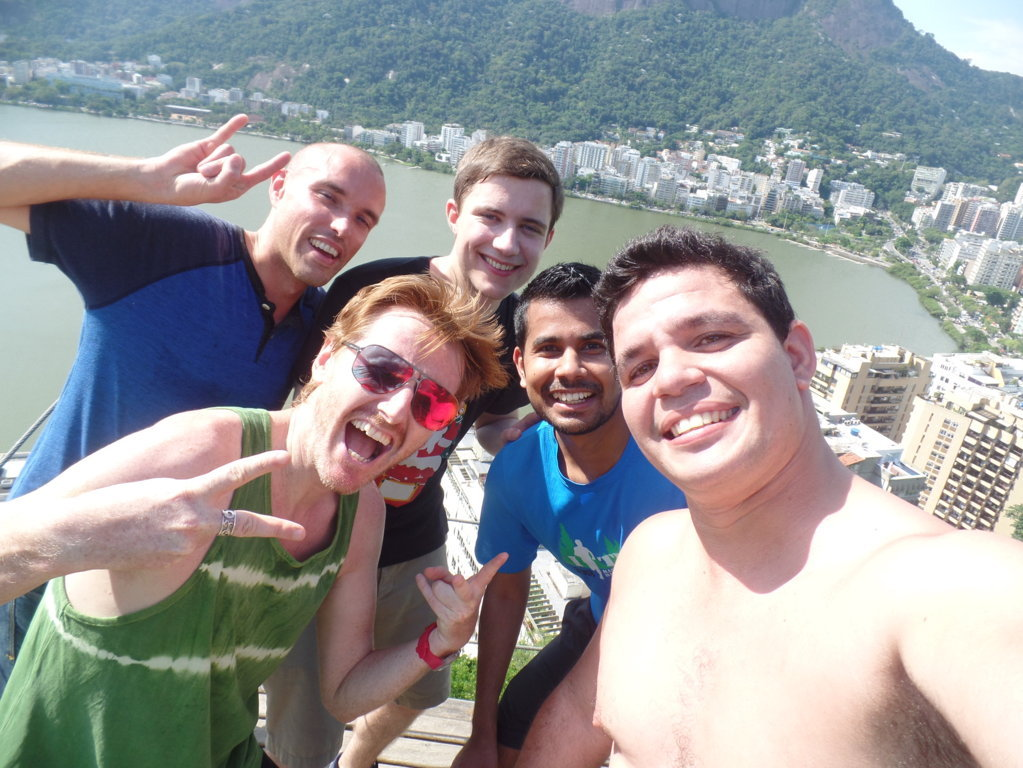 Selfie at Parque da Catacumba.
