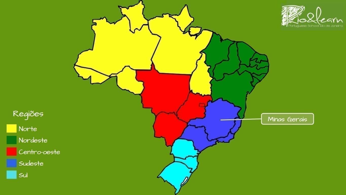 Map of Brazil. Minas Gerais State.