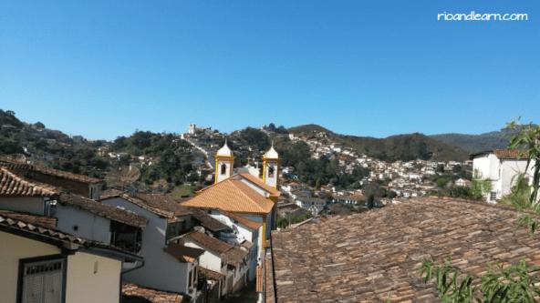 Ouro Preto desde lo alto.
