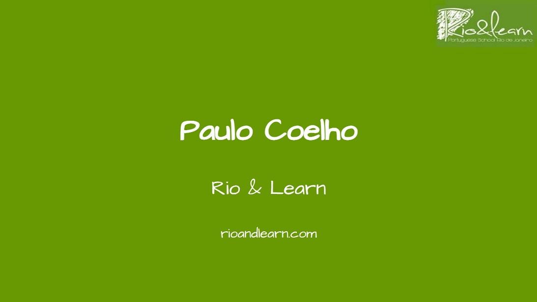 Paulo Coelho. One of the most famous Brazilian authors.