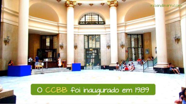 Centro Cultural Banco do Brasil no Rio de Janeiro. O CCBB foi inaugurado em 1989.