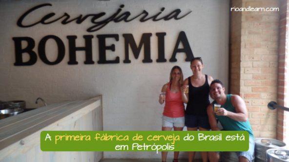 Foto en la fábrica de la cerveza Bohemia de Brasil. La primera fábrica de cerveza de Brasil está en Petrópolis.
