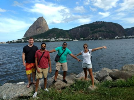 Studying and exploring in Botafogo. Studying Portuguese in Botafogo.