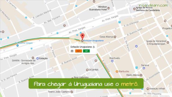 How to get to the Uruguaiana Market in Rio de Janeiro. Para chegar à Uruguaiana use o metrô.