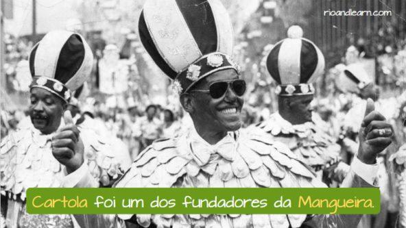 Mangueira Samba School in Rio de Janeiro. Cartola foi um dos fundadores da Mangueira.