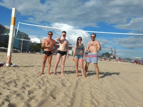 Beach Volley with Caipirinhas. Playing beach volley and speaking Portuguese.