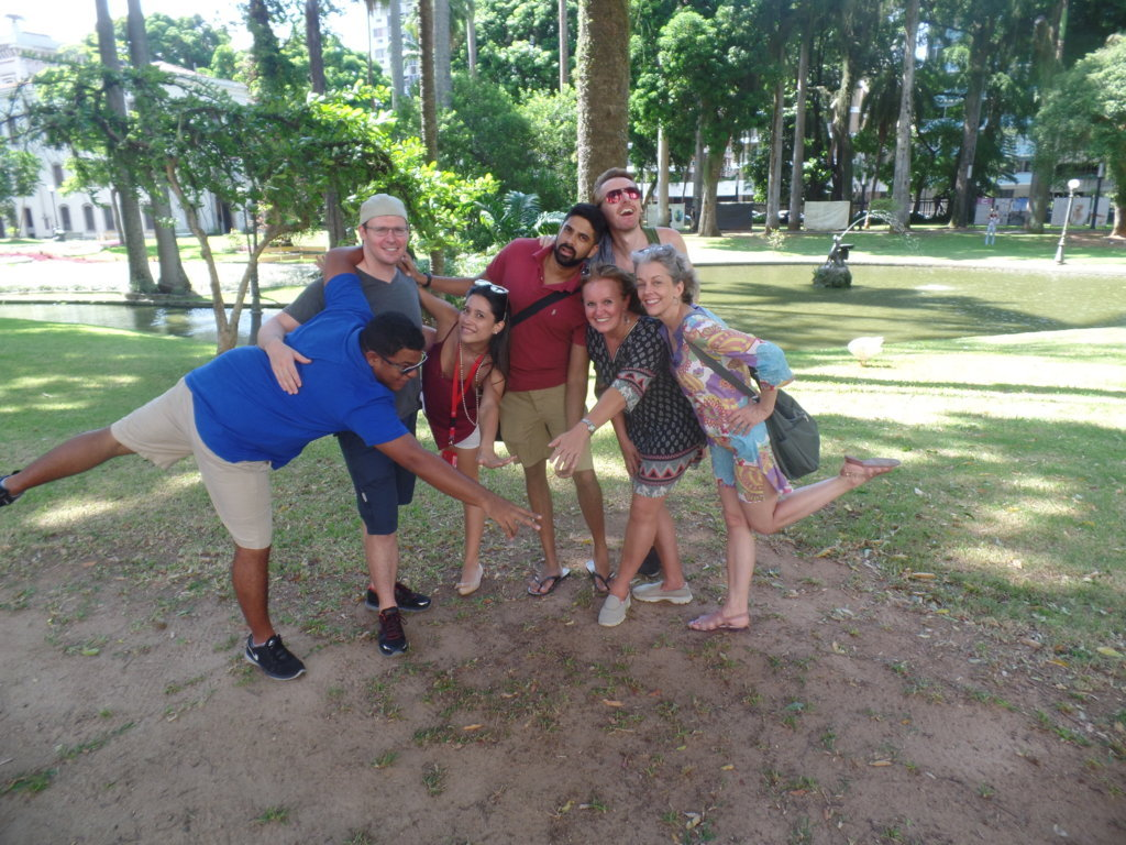Having fun at Parque do Catete.