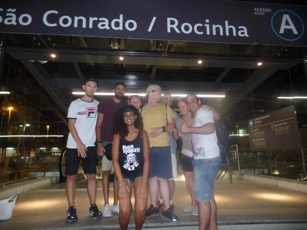 Visiting Rocinha.