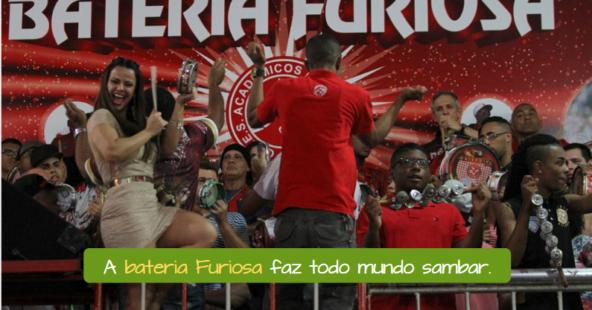 La Bateria Furiosa de la Escuela de Samba Salgueiro hace sambar a todo el mundo.