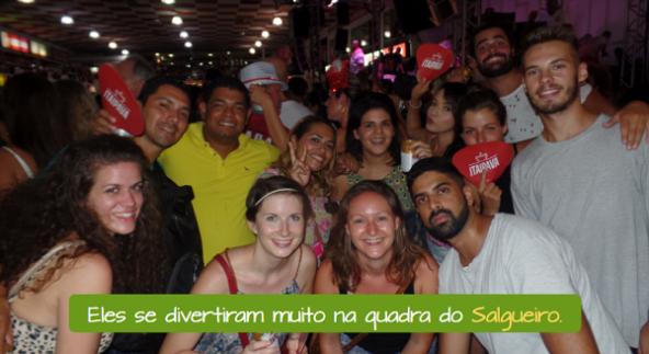 Escuela de Samba Salgueiro. Extranjeros divirtiéndose en Salgueiro.