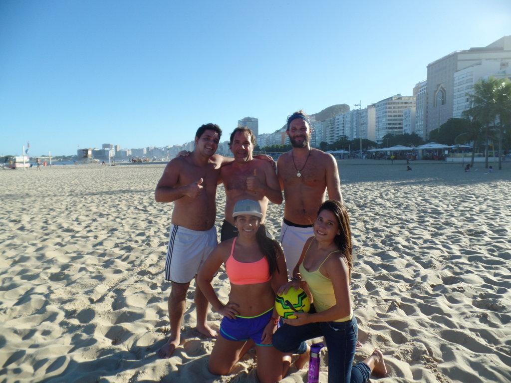 Football in Copacabana Beach.