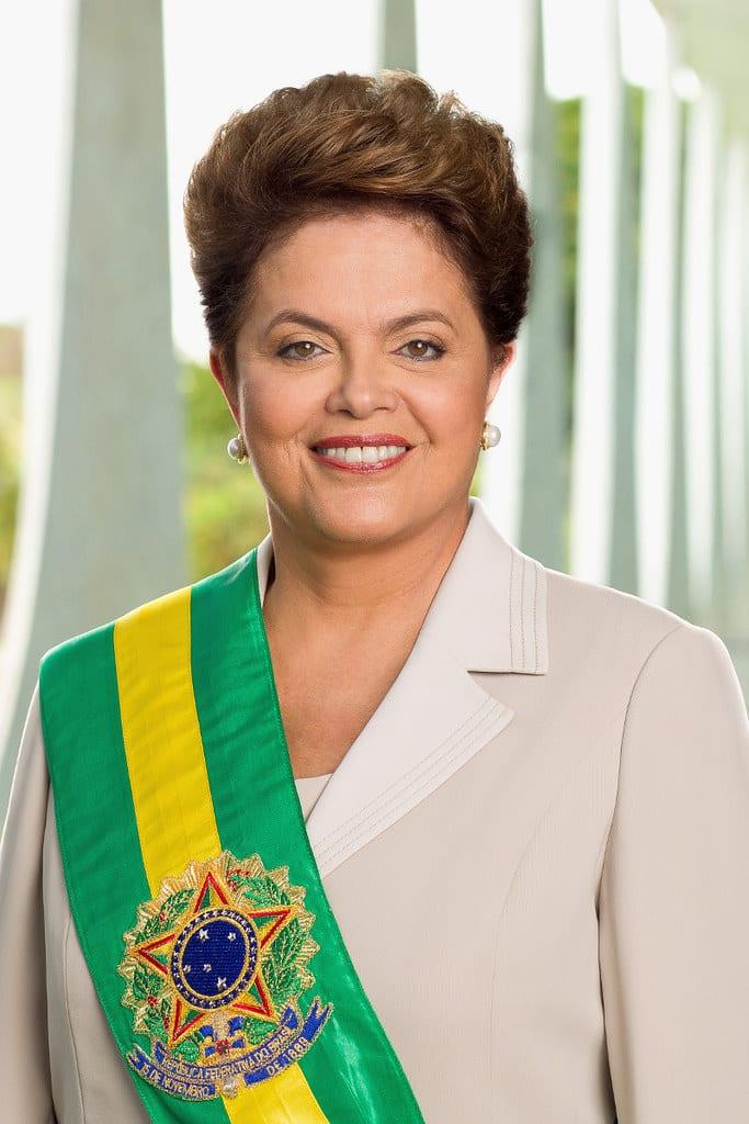 Women's Day in Brazil. Mulheres poderosas of Brazil. Dilma Rousseff: first female president of Brazil.