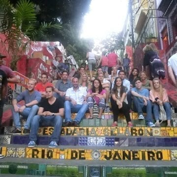 Escadaria Selaron in Rio de Janeiro. Lapa.