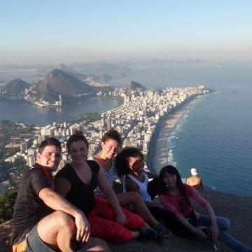 Beautiful view at Morro Dois Irmãos.