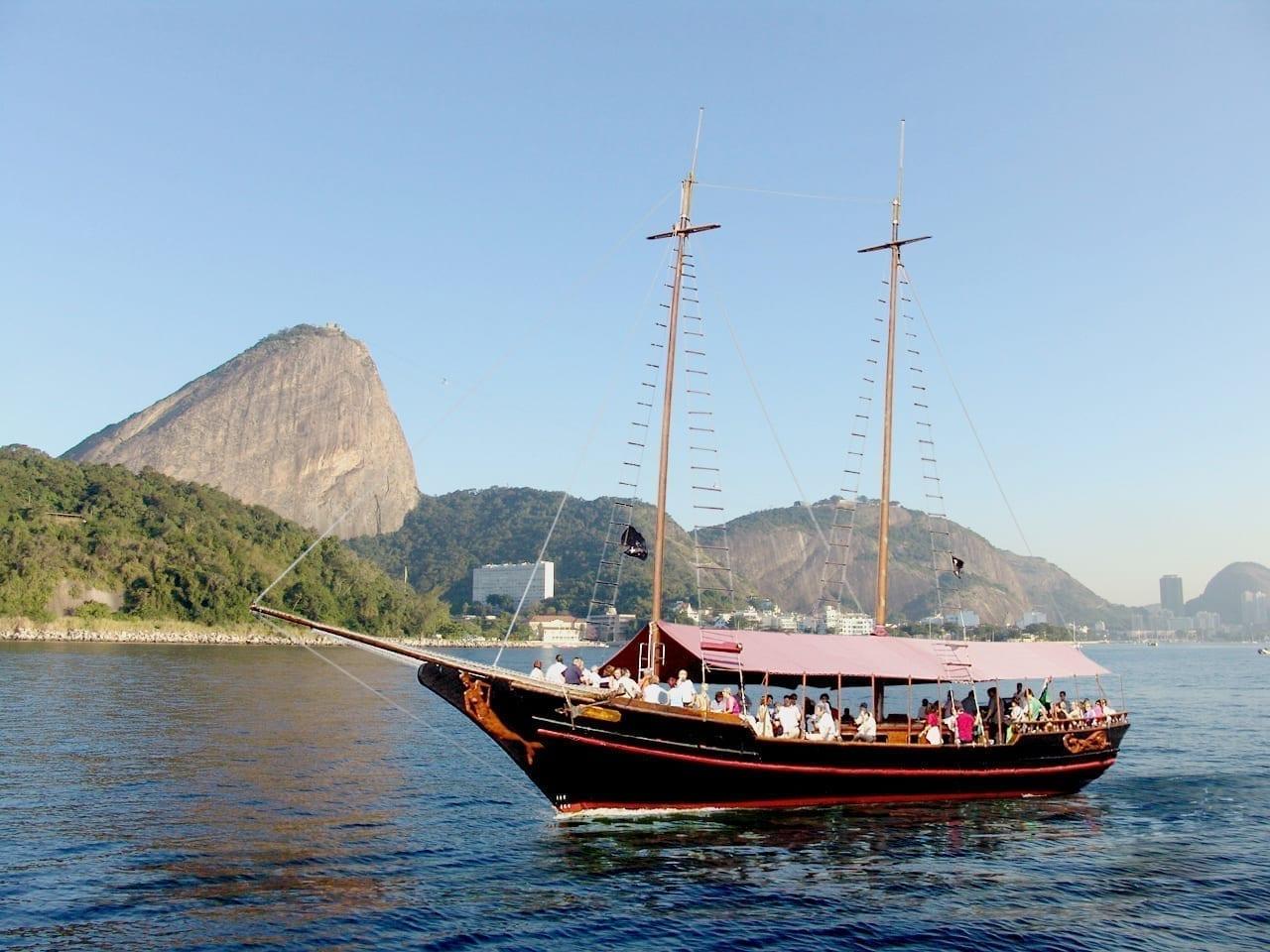 Boat tour in Rio de Janeiro.