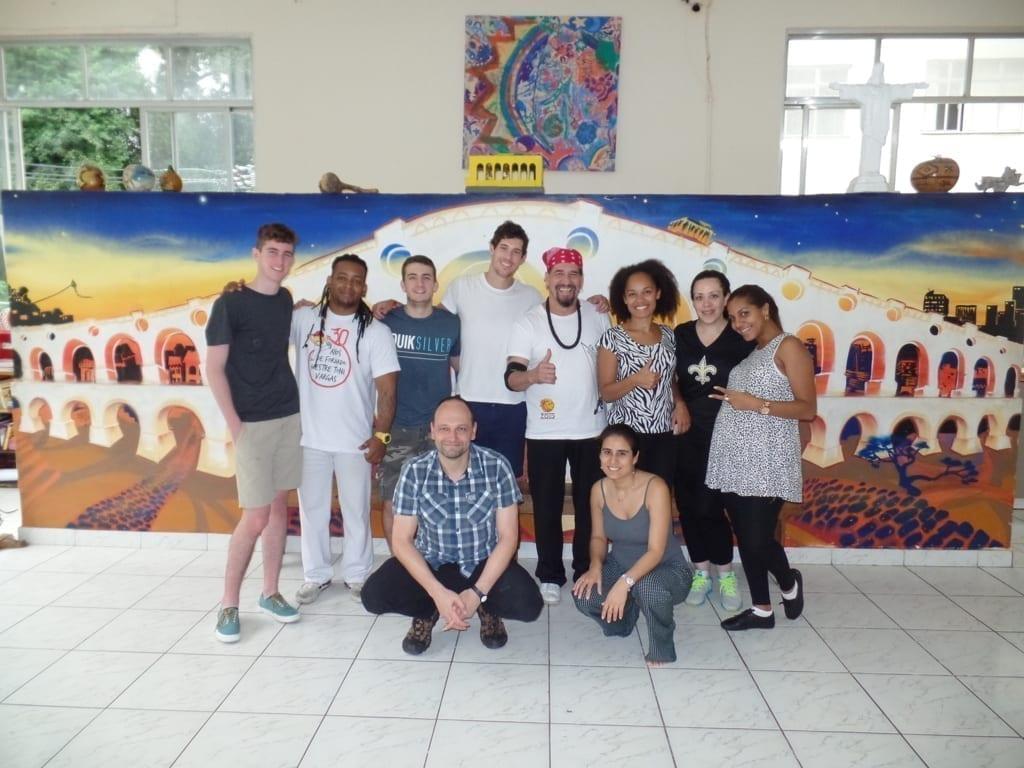 Capoeira en Río de Janeiro.