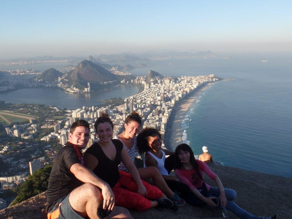Linda vista desde el Morro Dos Hermanos de Río de Janeiro (Dois Irmãos).