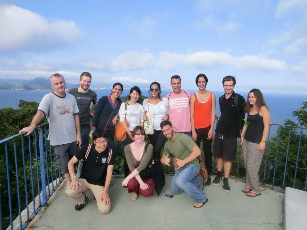 tudents of Rio & Learn Portuguese School at Forte do Leme.