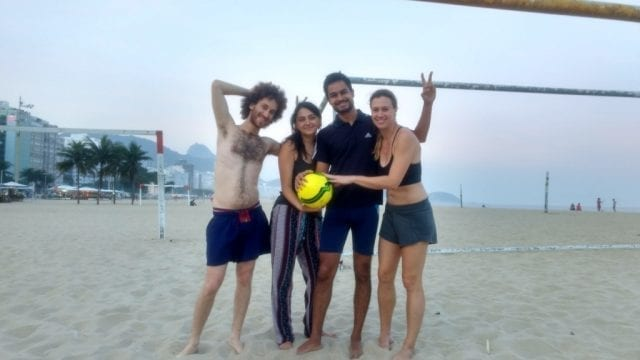 Craques on the beach.