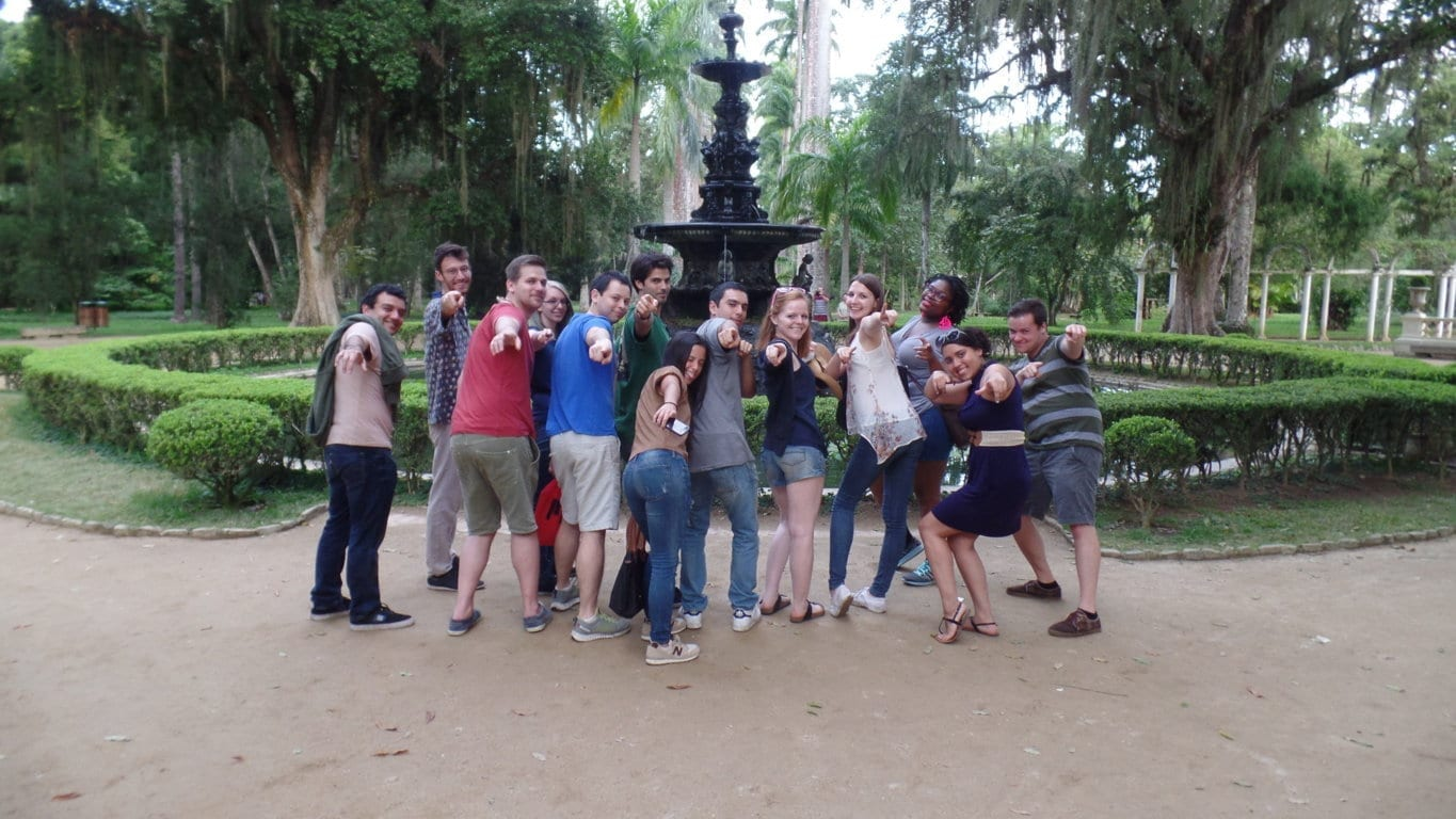 Portuguese language Students at Botanical garden in Rio. Botanical garden in Rio.