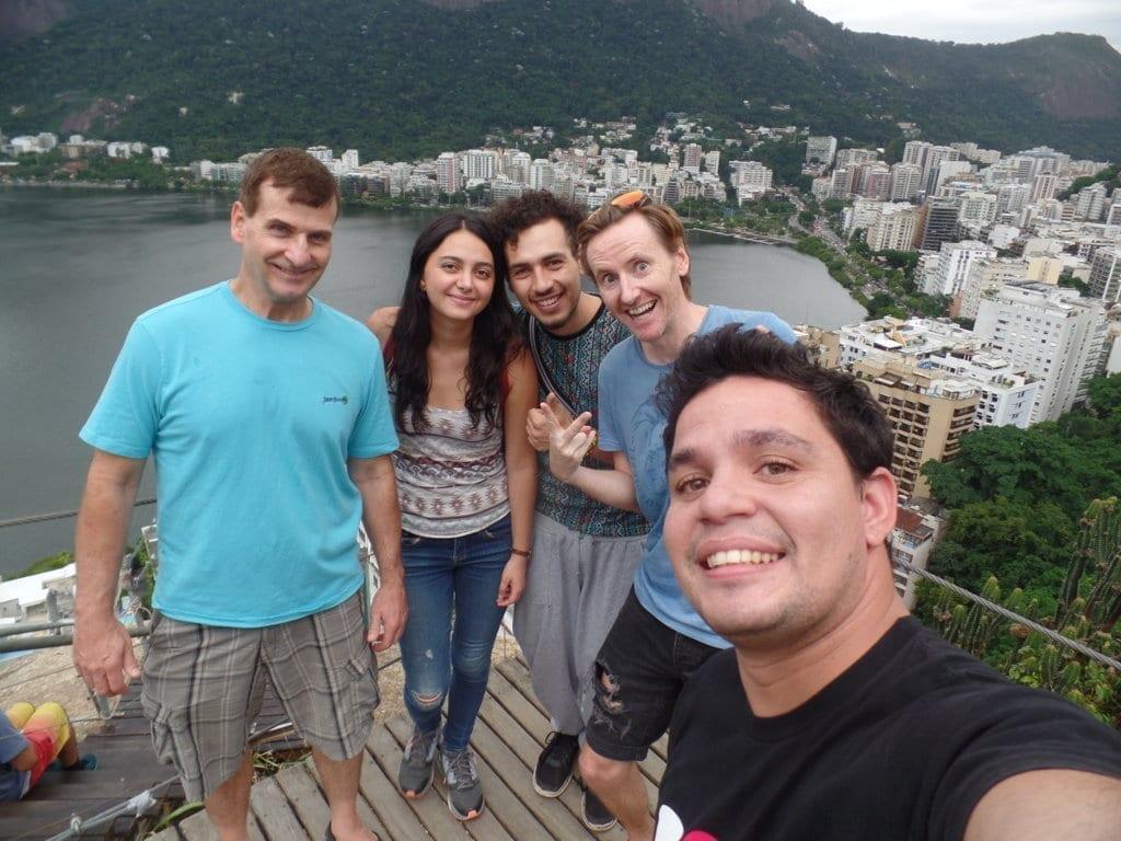 Selfie at Lagoa Rodrigo de Freitas.