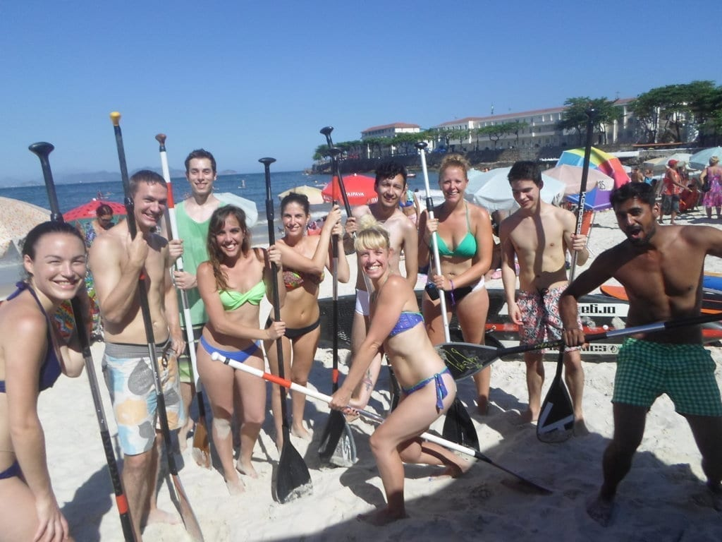 Stand Up Paddle Surf en Río, en Copacabana.
