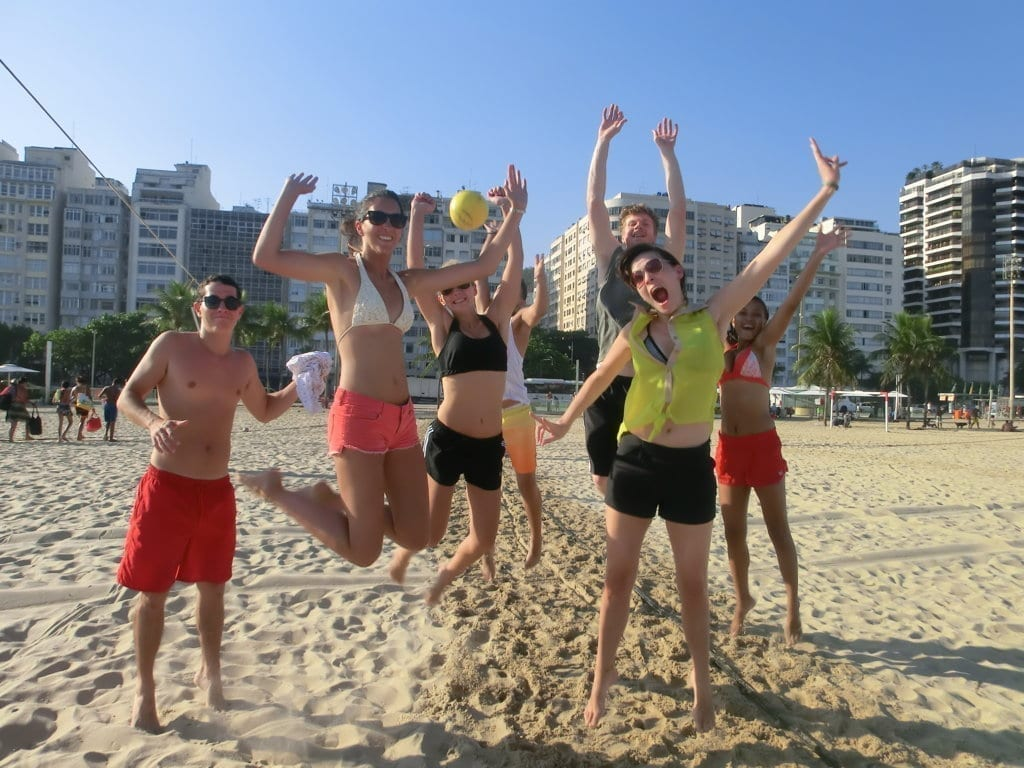 Copacabana Beach volleyball. Beach Volley and Funlearning!
