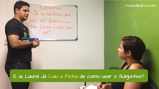 Caiu a ficha meaning. Has the penny dropped on how to use the subjunctive?