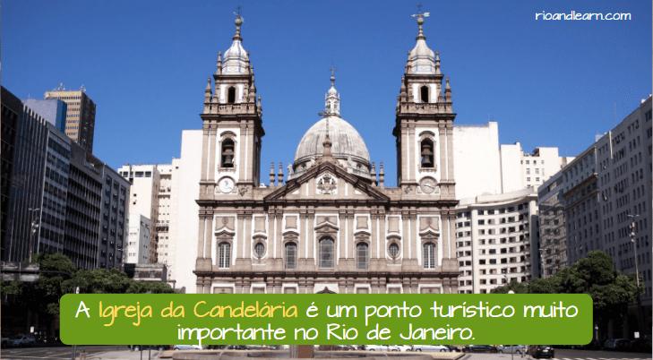 Iglesia de la Candelaria en Río de Janeiro. A Igreja da Candelária é um ponto turístico importante no Rio de Janeiro.