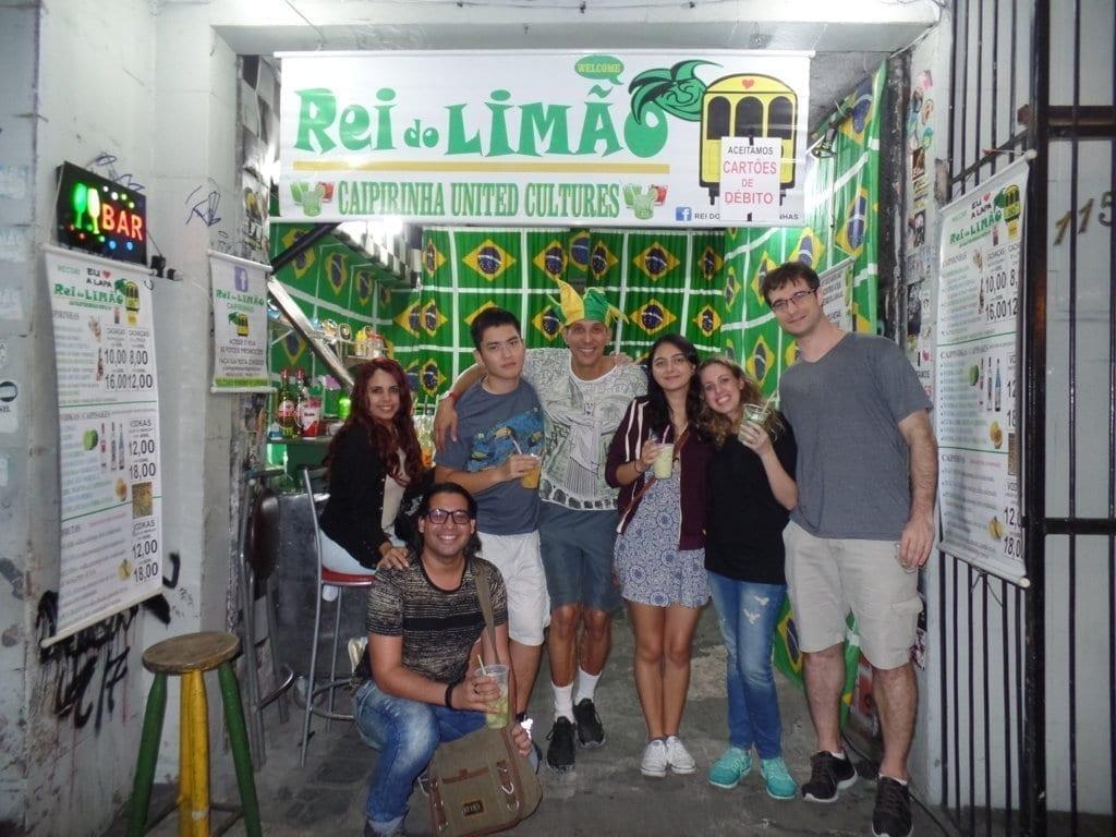 Among friends at Lapa. Caipirinha class at Rei do Limão.