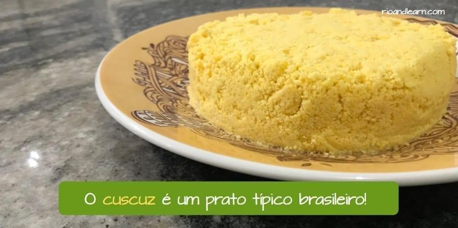 How to make Brazilian Cuscuz. O cuscuz é um prato típico brasileiro.