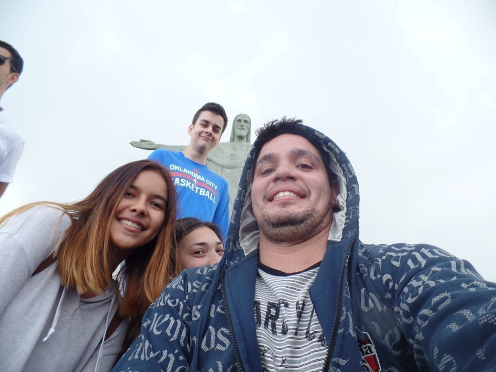 Tarde no Cristo Redentor. Selfie at Cristo Redentor.